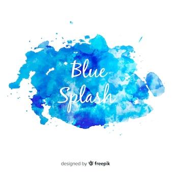 Splash aquarelle bleu