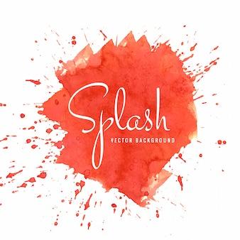 Splash aquarelle coloré abstrait