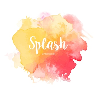 Splash aquarelle coloré