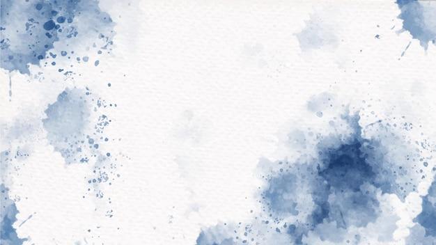 Splash aquarelle colorée bleu marine indigo sur fond de papier
