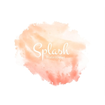 Splash aquarelle douce abstraite