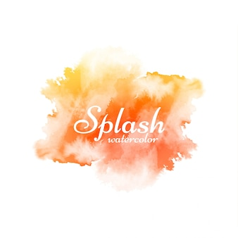 Splash aquarelle jaune moderne