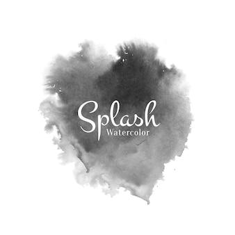 Splash aquarelle noir abstrait