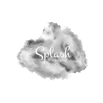 Splash aquarelle noire abstraite