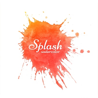 Splash aquarelle rouge moderne