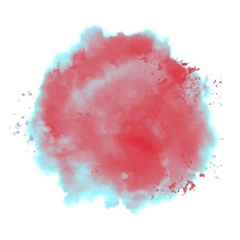 Splash bichromie à l'aquarelle