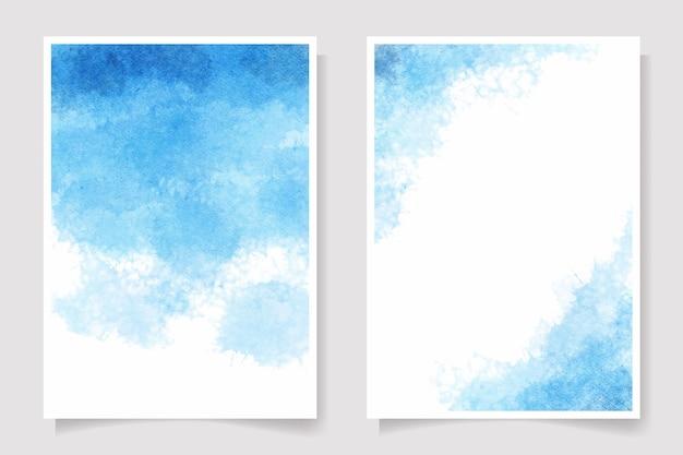 Splash de lavage humide aquarelle bleu marine