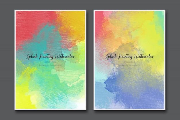Splash peinture aquarelle abstraite