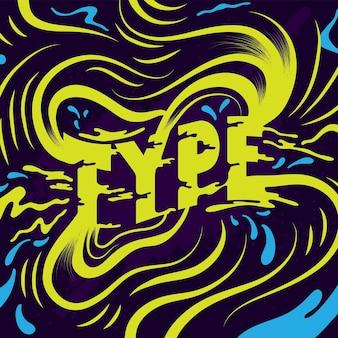 Splash de typographie abstraite