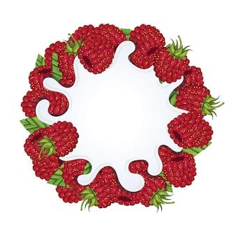 Splash de yaourt isolé à la fraise