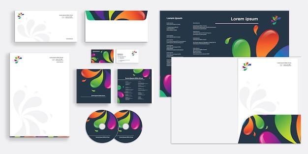 Splat abstrait stationnaire d'entreprise