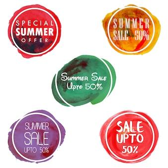 Splatter aquarelle badges de vente
