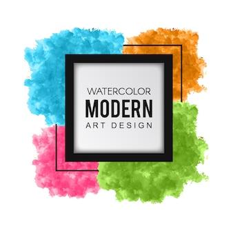 Splatter aquarelle coloré moderne art design