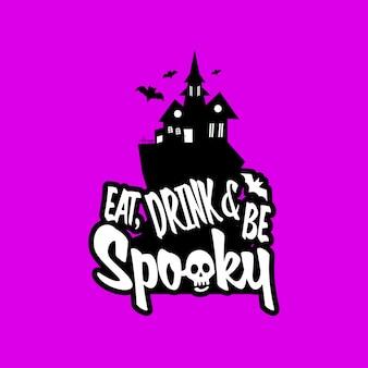 Spooky fun avec vecteur de conception de typographie