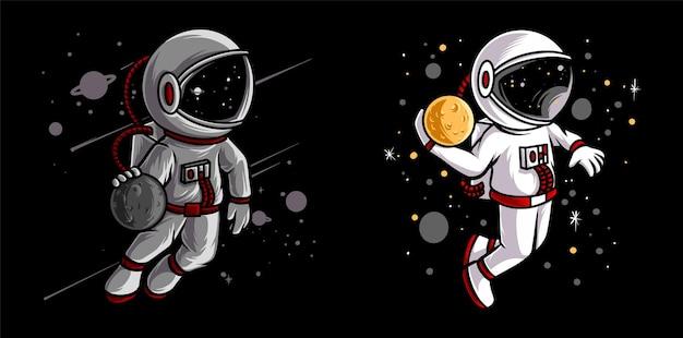 Sport de basket-ball astronaute