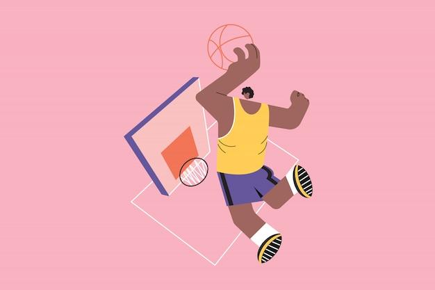 Sport, basket-ball, santé, formation, concept de soins