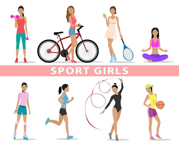 Sport de belles filles. femmes faisant du sport