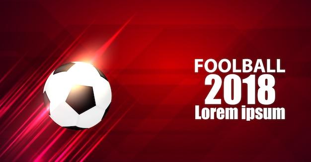 Sport design concept football 2018 modèle avec moderne