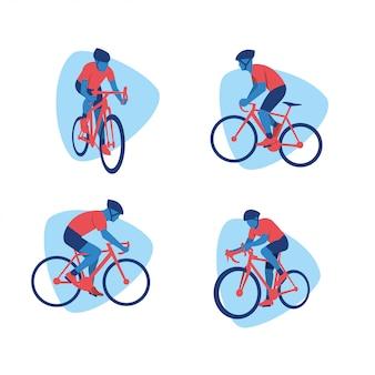 Le sport du vélo vector design