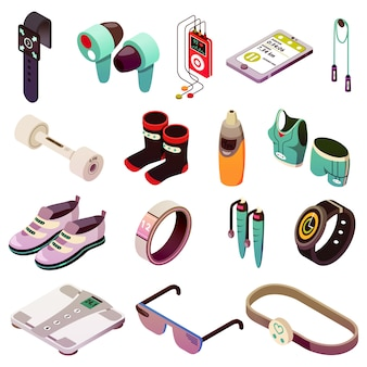 Sport electronics icon set