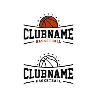 Sport d'équipe de club de basket-ball, création de logo d'insigne d'emblème de sports d'e