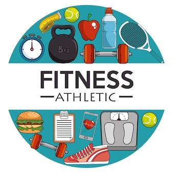 Sport de fitness et design de gym