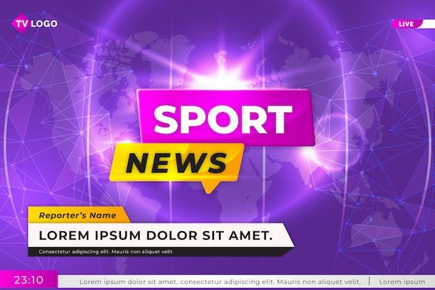Sport live news tv background