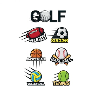 Sport logo international vecteur