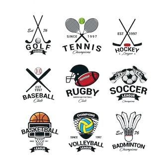 Sport logo international vecteur