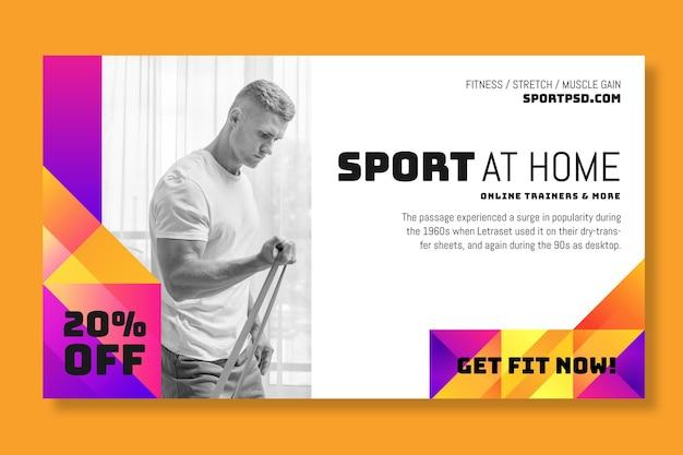 Sport à la maison concept de bannière