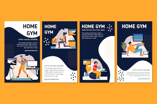 Sport à la maison instagram stories
