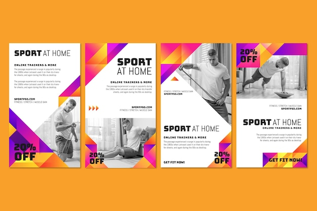 Sport à la maison instagram stories