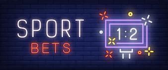 Sport paris texte néon avec tableau de bord