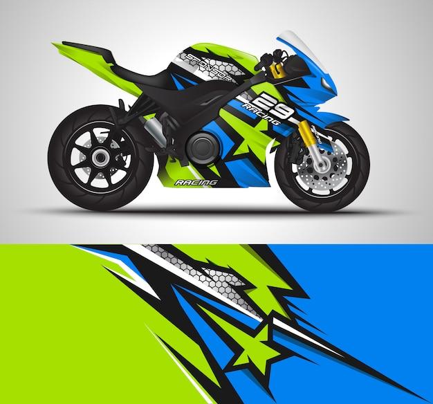 Sportbike moto sport automobile et conception d'autocollants en vinyle