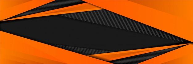 Sportif abstrait avec la couleur orange du design de fond