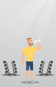 Sportif de l'eau potable