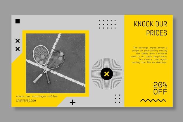 Sporting jouer à la bannière de tennis de jeu