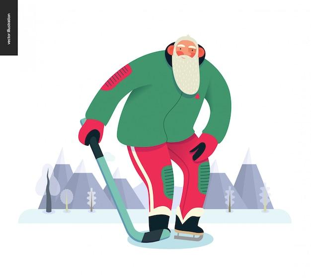 Sporting santa, hockey sur glace