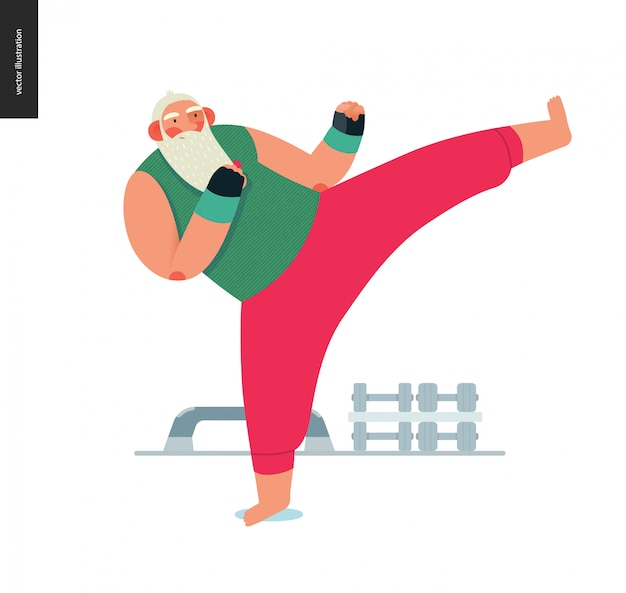 Sporting santa - kickboxing aérobic