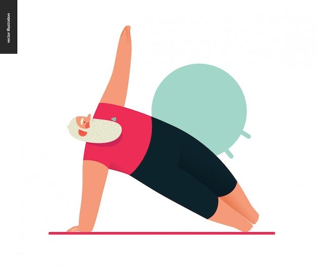 Sporting santa - yoga