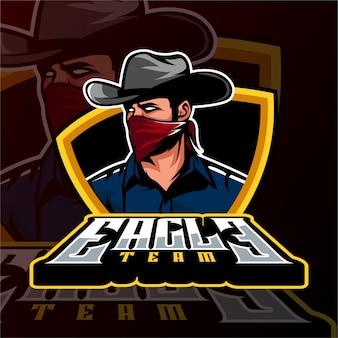 Sports gaming logo style cowboy mafia