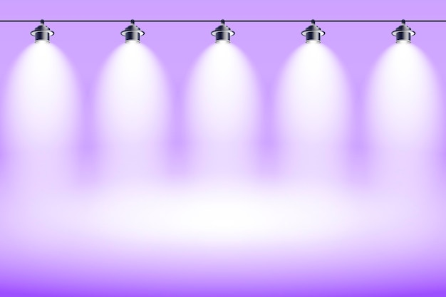 Spot lumières fond violet studio