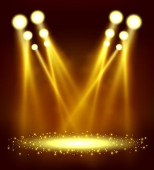 Spotlight brillant dans l'événement de spectacle