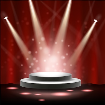 Spotlight brillant sur scène