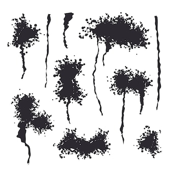 Spray noir isolé
