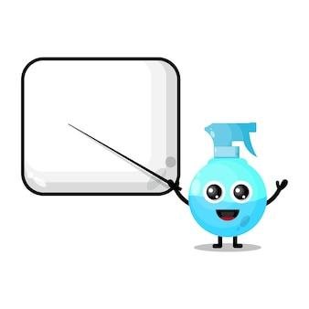 Spray pour devenir un professeur de mascotte de personnage mignon