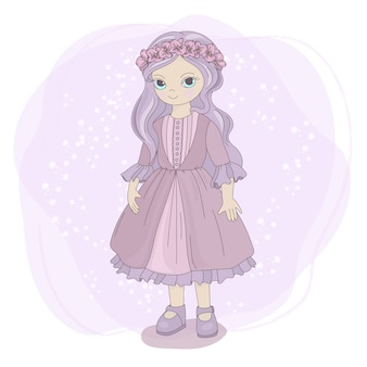 Spring girl fairy tale cartoon enfants