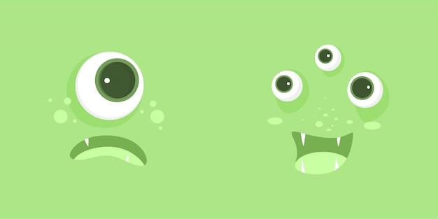 Square green monster