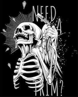 Squelette de coiffeur