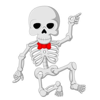 Squelette drôle de dessin animé dansant